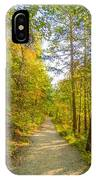 Beautiful Autumn Forest Mountain Stair Path At Sunset IPhone Case