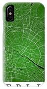 Berlin Street Map - Berlin Germany Road Map Art On Colored Backg IPhone Case
