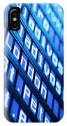 Blue Flight Board IPhone Case