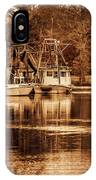 2 Boats On The Bon Secour Sepia IPhone Case