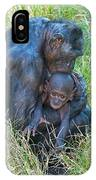 Bonobo Mother And Baby IPhone Case