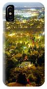 Boulder Colorado City Lights Panorama IPhone Case