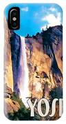 Bridal Veil Falls Yosemite National Park IPhone Case