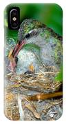 Broad-billed Hummingbird And Young IPhone Case