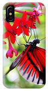 Butterfly On Red Bush IPhone X Case