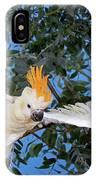 Cacatoes A Huppe Orange Cacatua IPhone Case