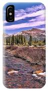 Canadian Rockies Stream IPhone Case