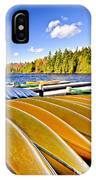 Canoes On Autumn Lake IPhone Case