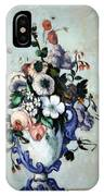 Cezanne's Flowers In A Rococo Vase IPhone Case