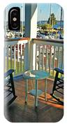 2 Chairs On The Fairhope Yacht Club Porch IPhone Case