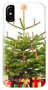 Christmas Tree Decorated With Presents  IPhone Case