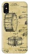Collapsible Drum Patent 008 IPhone Case