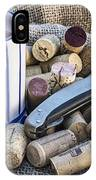 Corks With Corkscrew IPhone Case