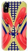 Dancing Tulip Red Exotic Flower Petal Based Wave Pattern  Created By Navinjoshi Reiki Healing Master IPhone Case