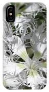 Dianthus Superbus - White IPhone Case