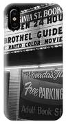 Film Noir Farewell My Lovely 1975 Brothel Guide Virginia St. Bookstore Reno Nevada 1979-2008 IPhone Case