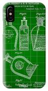 Flask Patent 1888 - Green IPhone Case