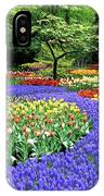Flowers At A Garden IPhone Case