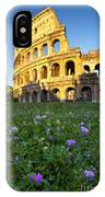Flowers At The Coliseum IPhone Case