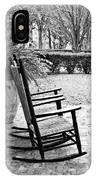 Front Porch Rockers - Bw IPhone Case