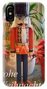 German Nutcracker - Frohe Weihnachten IPhone Case
