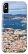 Gibraltar City And Bay IPhone Case