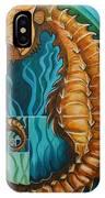 Golden Seahorse IPhone Case