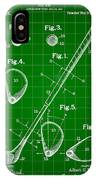 Golf Club Patent 1909 - Green IPhone Case
