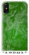 Guatemala Street Map - Guatemala City Guatemala Road Map Art On  IPhone Case
