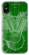 Harley Davidson Engine Patent 1919 - Green IPhone Case