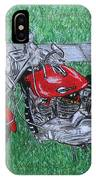 Harley Red Sportster Motorcycle IPhone Case