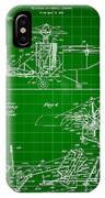 Helicopter Patent 1940 - Green IPhone Case