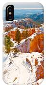 High Angle View Of Rock Formations IPhone Case