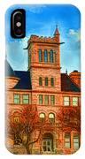 Historic City Hall Springfield  Mo IPhone Case
