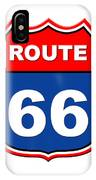 Historical Route 66 Sign Illustration IPhone Case