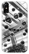 Holiday Glass Ornament Decorations At The Aria Resort And Casino IPhone Case