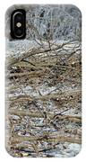 Ice Storm Poplars IPhone Case