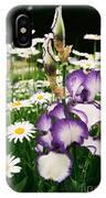 Iris And Daisies IPhone Case