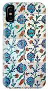 Iznik Ceramics With Floral Design IPhone Case