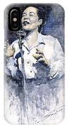 Jazz Billie Holiday Lady Sings The Blues  IPhone Case