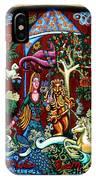 Lady Lion And Unicorn IPhone Case