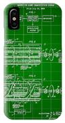 Laser Patent 1958 - Green IPhone Case