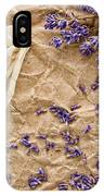 Lavender Flowers And Seeds IPhone Case