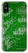 Lego Patent 1958 - Green IPhone Case