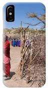 Maasai People And Their Village In Tanzania IPhone Case