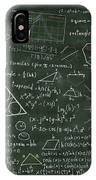 Maths Formula On Chalkboard IPhone Case