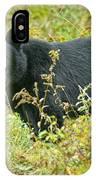 Meadow Black Bear IPhone Case