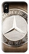 Mercedes-benz 6.3 Amg Gullwing Emblem IPhone X Case