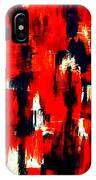 Modern Abstract Painting Original Canvas Art Shadow People By Zee Clark IPhone Case