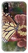 Monarch- Butterfly Mixed Media Photo Composite IPhone Case